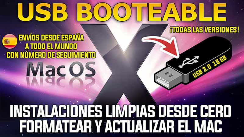 Comprar USB booteable Mac OS X