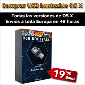 Comprar USB booteable Catalina