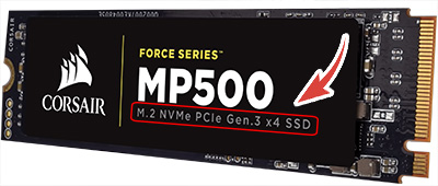 corsair mp500 nvme